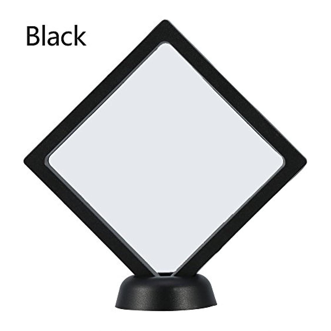 クレジット蒸留する小包アクリルネイルプレートとPETフィルムディスプレイスクリーン付きの2つのダイヤモンドネイルディスプレイスタンド - 4.3 4.3インチネイルホルダーツール(Black)