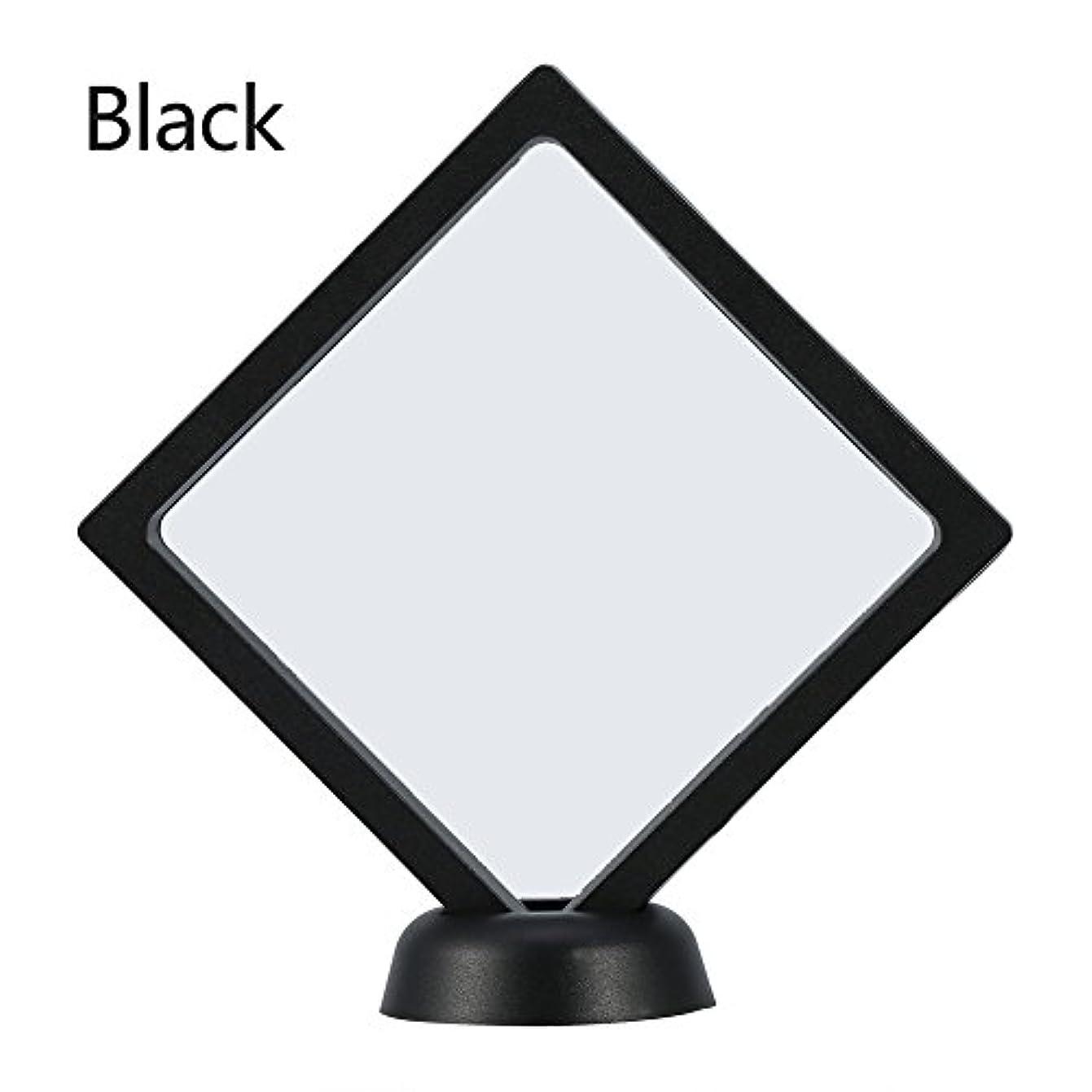 予測つぼみ広々としたアクリルネイルプレートとPETフィルムディスプレイスクリーン付きの2つのダイヤモンドネイルディスプレイスタンド - 4.3 4.3インチネイルホルダーツール(Black)