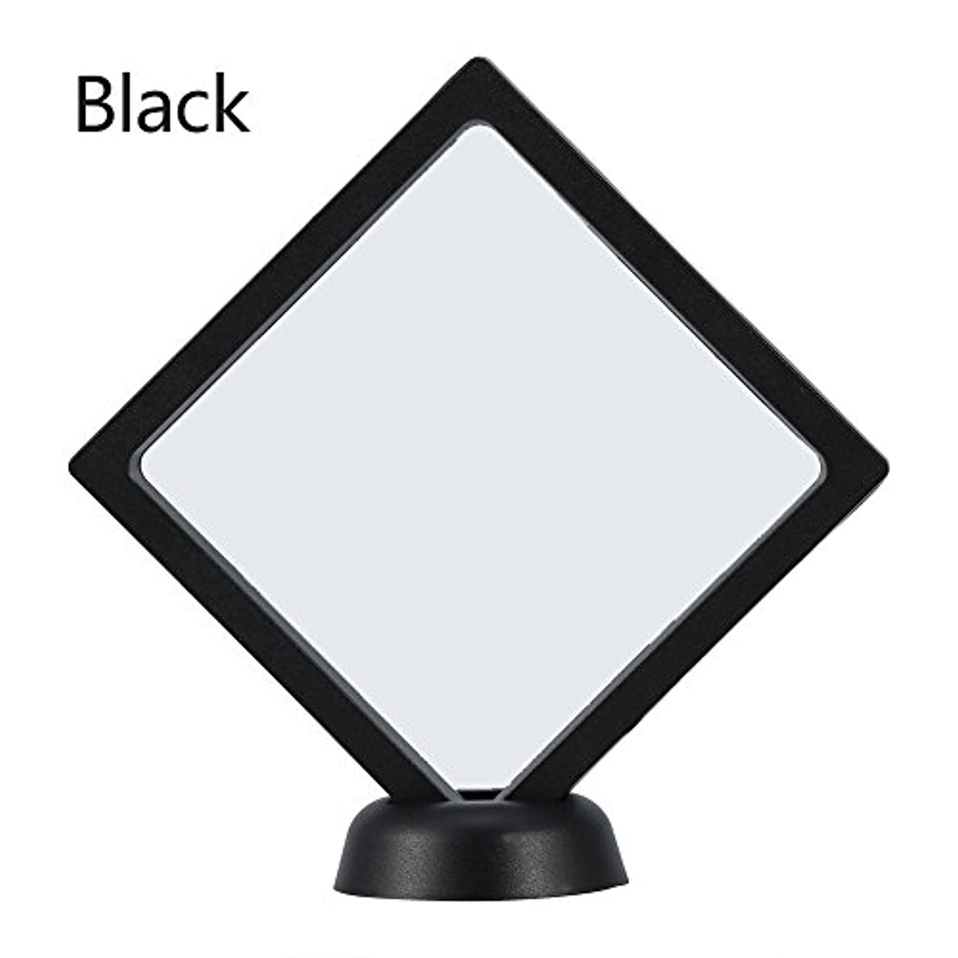 瀬戸際ひもモールアクリルネイルプレートとPETフィルムディスプレイスクリーン付きの2つのダイヤモンドネイルディスプレイスタンド - 4.3 4.3インチネイルホルダーツール(Black)