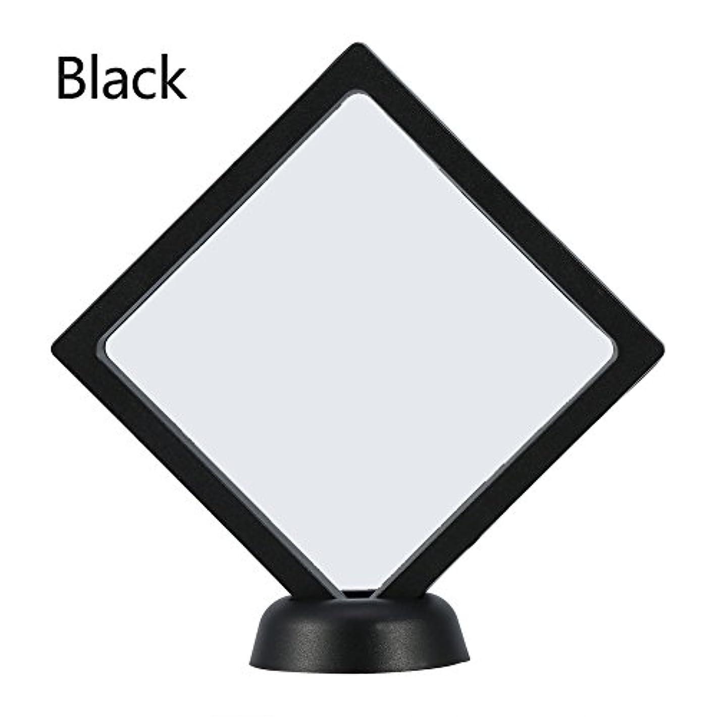 維持する代わりにボットアクリルネイルプレートとPETフィルムディスプレイスクリーン付きの2つのダイヤモンドネイルディスプレイスタンド - 4.3 4.3インチネイルホルダーツール(Black)