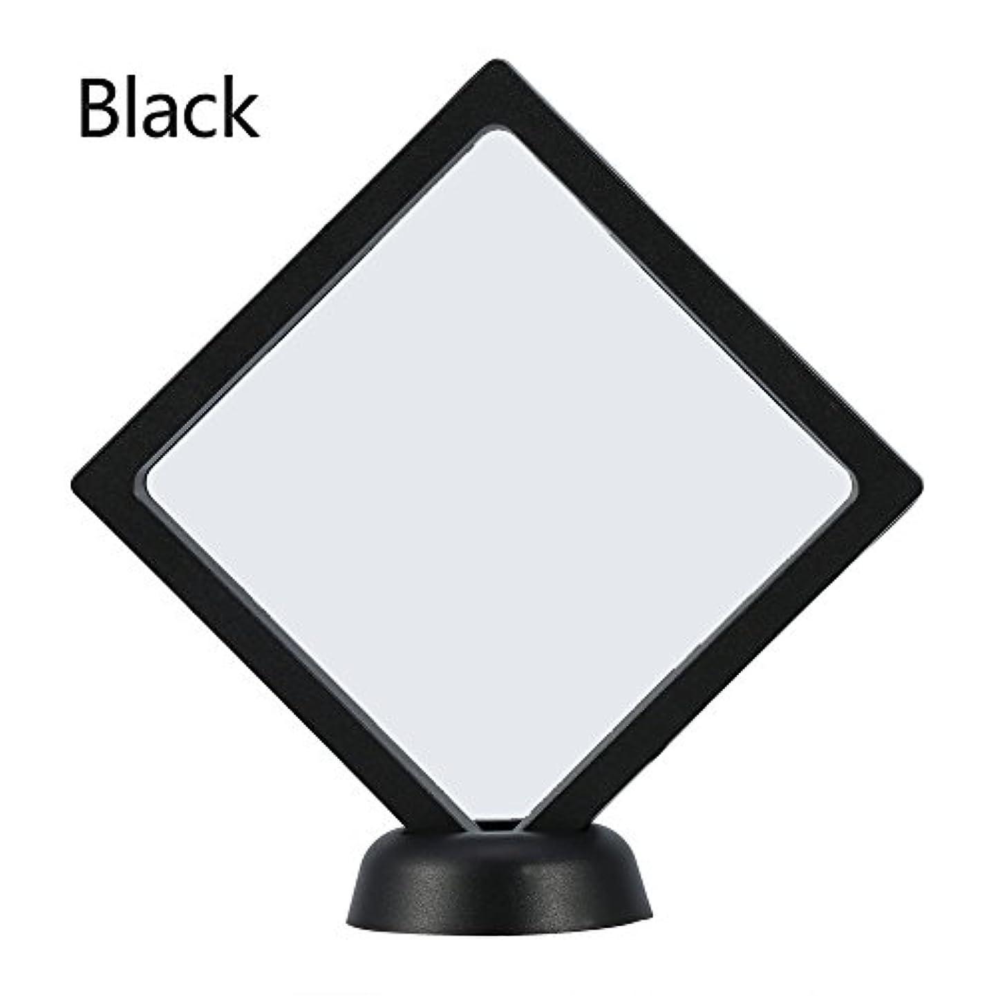 無効前提電報アクリルネイルプレートとPETフィルムディスプレイスクリーン付きの2つのダイヤモンドネイルディスプレイスタンド - 4.3 4.3インチネイルホルダーツール(Black)