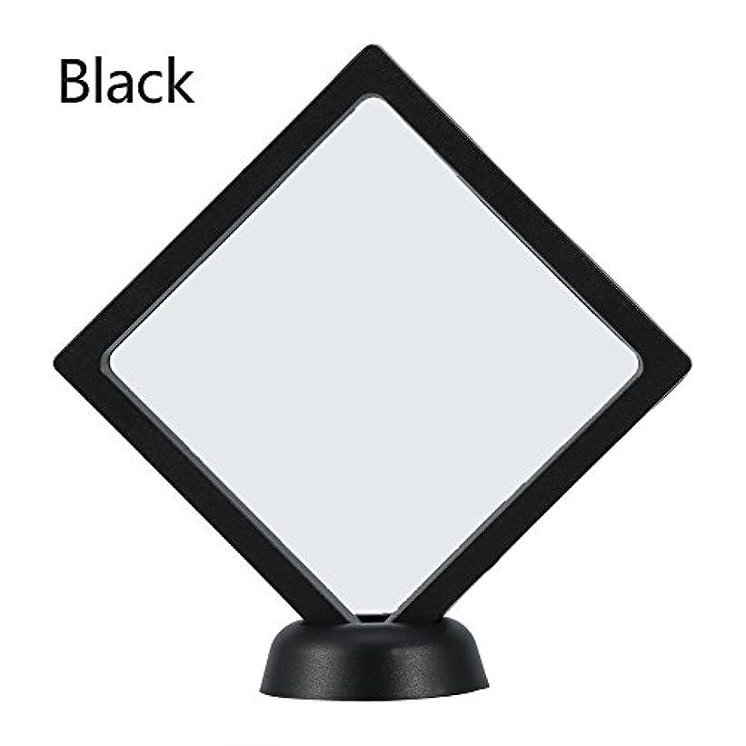 排除軌道啓示アクリルネイルプレートとPETフィルムディスプレイスクリーン付きの2つのダイヤモンドネイルディスプレイスタンド - 4.3 4.3インチネイルホルダーツール(Black)
