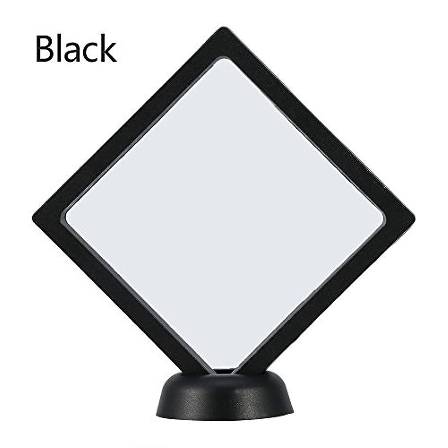罪人記事放送アクリルネイルプレートとPETフィルムディスプレイスクリーン付きの2つのダイヤモンドネイルディスプレイスタンド - 4.3 4.3インチネイルホルダーツール(Black)