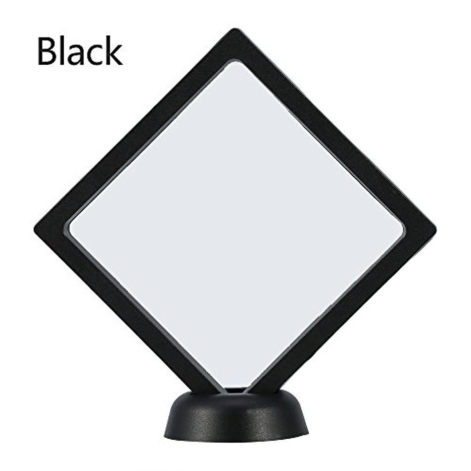 それらカンガルーピックアクリルネイルプレートとPETフィルムディスプレイスクリーン付きの2つのダイヤモンドネイルディスプレイスタンド - 4.3 4.3インチネイルホルダーツール(Black)