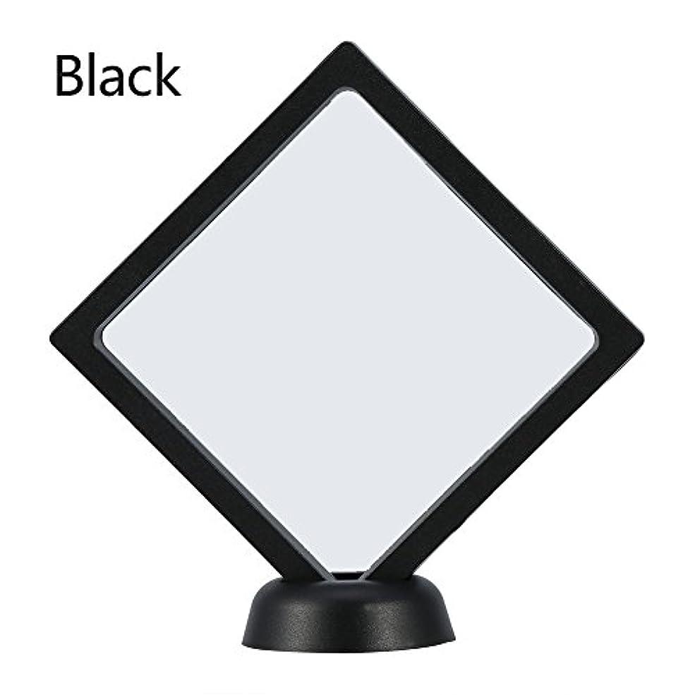 不定典型的なひばりアクリルネイルプレートとPETフィルムディスプレイスクリーン付きの2つのダイヤモンドネイルディスプレイスタンド - 4.3 4.3インチネイルホルダーツール(Black)