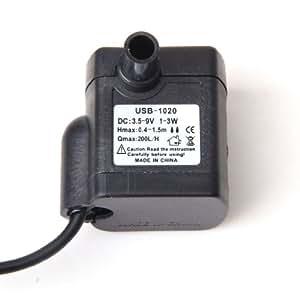 ノーブランド品  2個入り お買い得 DC 3.5V-9V 3W USB プラスチック 水中ウォーターポンプ 水族館 噴水池 ポンプ 流れ調節可能