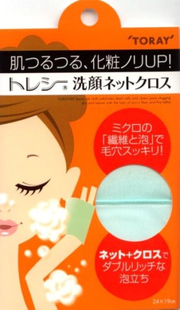 割合基本的な病的トレシー 洗顔ネットクロス ミント