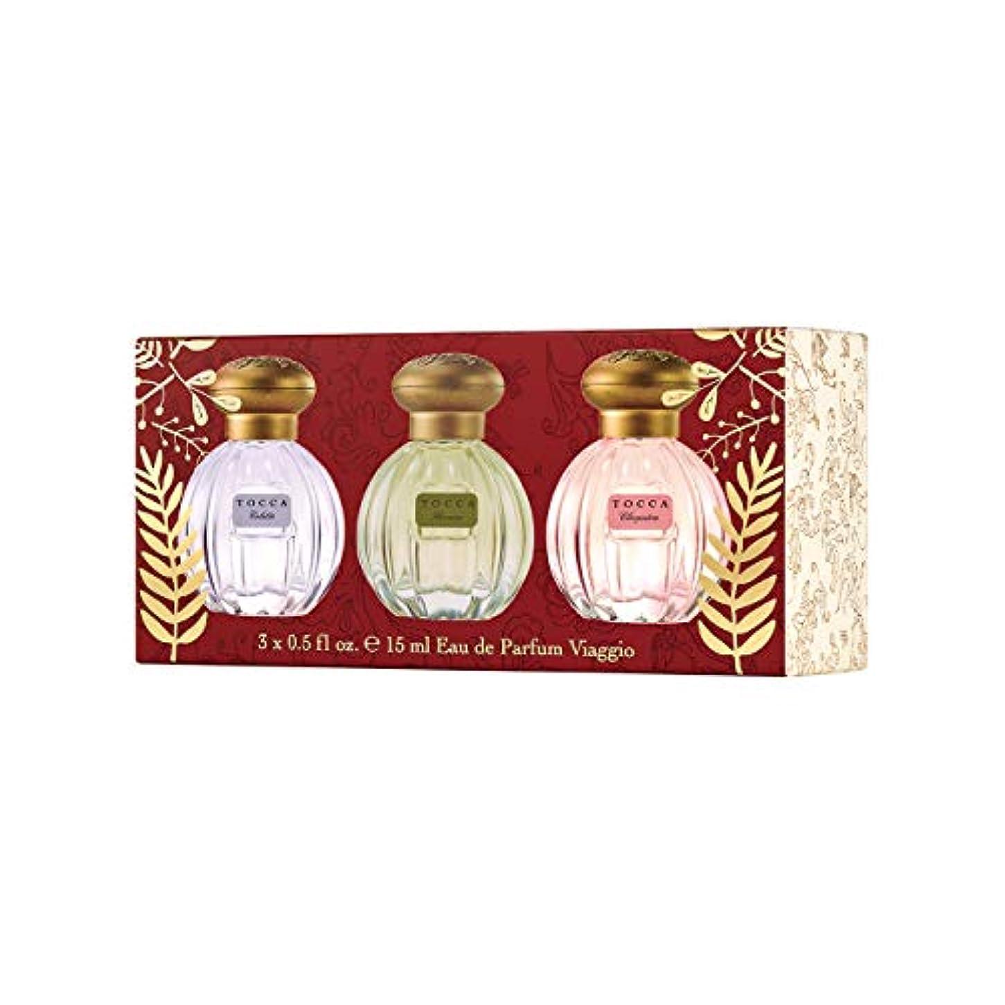 扇動アサー夜TOCCA ミニオードパルファムセットパルマ(小さな香水が3個入った贅沢ギフト)