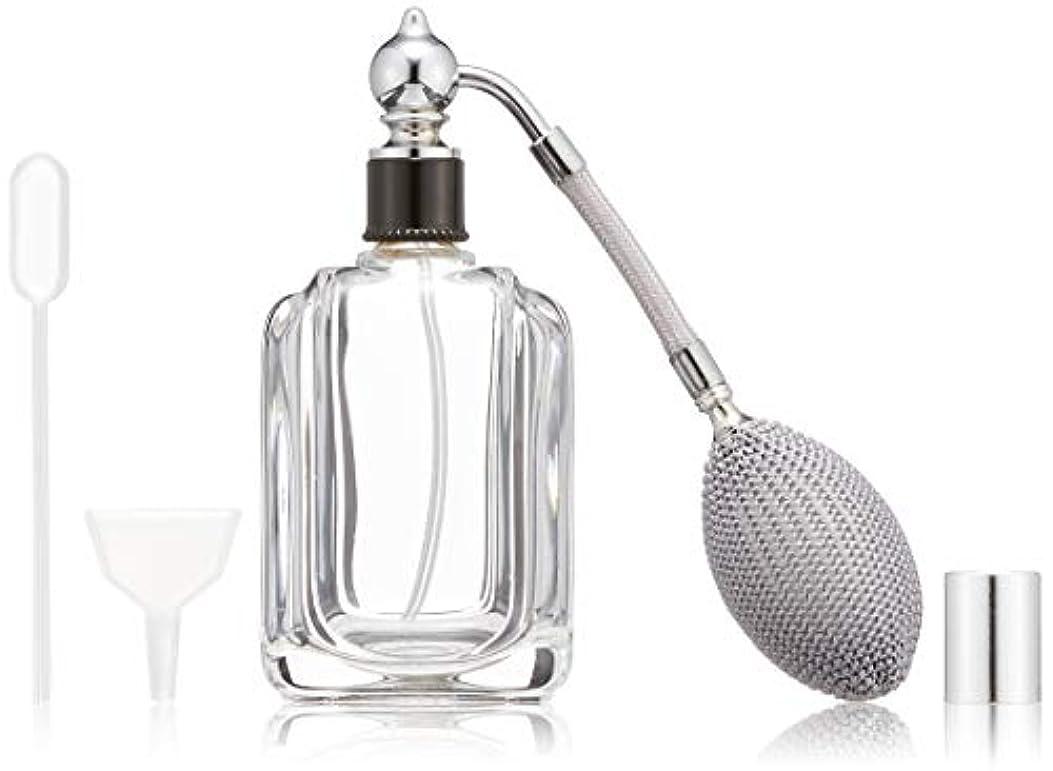 後ポンプヒロセアトマイザー フランス製香水瓶50ML メンズアトマイザーkuro 409873SS (50MLタクジョウ) CLSS
