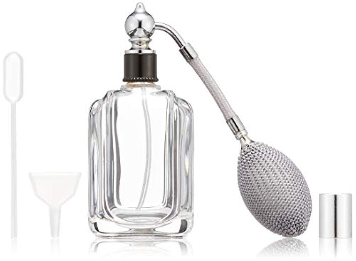湿度恐ろしい不確実ヒロセアトマイザー フランス製香水瓶50ML メンズアトマイザーkuro 409873SS (50MLタクジョウ) CLSS