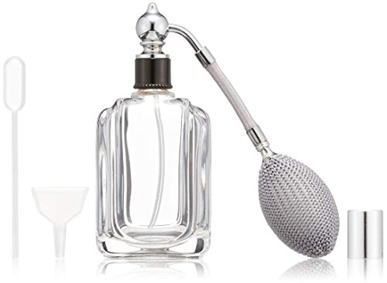 電球ファランクスかすれたヒロセアトマイザー フランス製香水瓶50ML メンズアトマイザーkuro 409873SS (50MLタクジョウ) CLSS