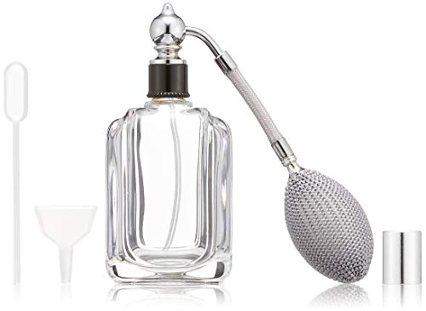 毛細血管倍増労働ヒロセアトマイザー フランス製香水瓶50ML メンズアトマイザーkuro 409873SS (50MLタクジョウ) CLSS