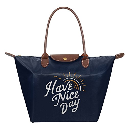 mkajkkok Have A Nice Day (2) ファッションレディース折りたたみDumplingバッグ