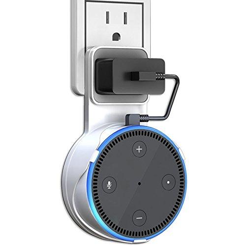 Amazon Echo Dot 壁掛け ハンガー ホルダー エコードット専用 充電ケーブル付き 充電しながら使用可能 エコードット スピーカー スタンド 保護ケース Alexa アレクサ 第2世代専用 壁掛け カバー (白)