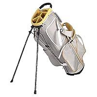 走行ゴルフクラブハードバッグ、防水ナイロン標準スタンドキャディ三脚ラックバッグ、コンプリートセットボールカートバッグゴルフ旅行ボール屋外トロリー