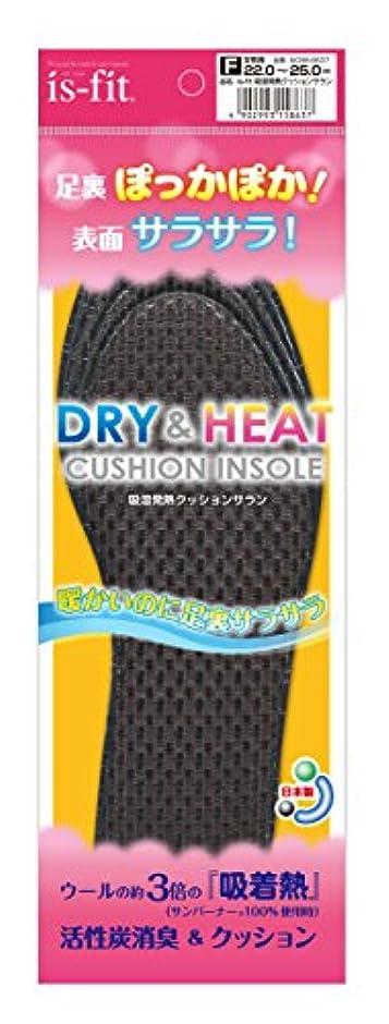 光沢のあるバイオレット経度is-fit(イズフィット) 吸湿発熱クッションサラン 女性用 フリー(22.0cm~25.0cm)