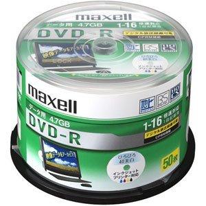 maxell データ用DVD-R 4.7GB 16倍速 CPRM対応 インクジェットプリンター対応 (50枚スピンドル DRD47WPD.50SP