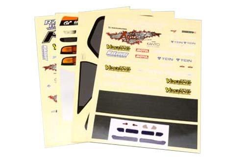 ドリフトカー用 Team SAMURAI Project FC3S デカルセット SD-TSFCD