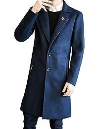 JHIJSC コート ロング メンズ ジャケット チェスターコート ビジネス シンプル 秋冬 無地 防寒 大きいサイズ
