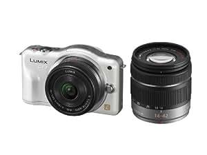 パナソニック ミラーレス一眼カメラ LUMIX GF3 ダブルズームキット シェルホワイト DMC-GF3W-W
