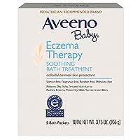 〈海外並行輸入品〉AVEENO® Baby Eczema Therapy SOOTHING BATH TREATMENT - 5バスパック(106g)アヴィーノ スーシング バストリートメント 4 セット[並行輸入品]
