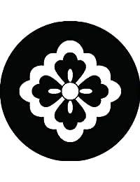 家紋シール 太陰四方花菱紋 布タイプ 直径40mm 6枚セット NS4-2149