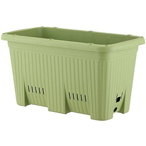 アップルウェアー 楽々菜園 深型 600 支柱用フレーム付(支柱別売) サラダグリーン