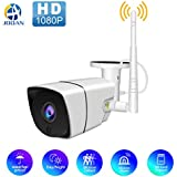 Wireless 1080P Outdoor WiFi Security Camera,JOOAN 2MP HD IP Home Surveillance Camera System with Super Night Vision,Motion Detection,Waterproof for Indoor Outdoor Bullet Camera, SD Card Support (2019 New)
