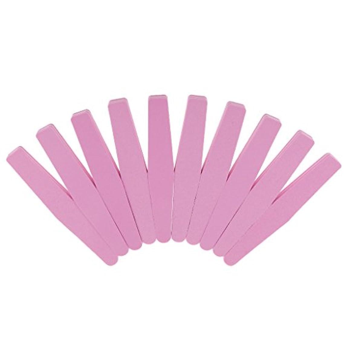 スカープ未満気をつけて爪やすり スポンジ カラー:ランダム 10本セット ネイルアート マニキュア ペディキュア 研磨