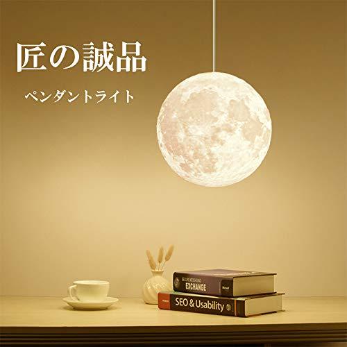 匠の誠品 ペンダントライト ムーンライト インテリア 月ライト 吊り下げ 月のランプ 間接照明 8畳以下 (30cm)