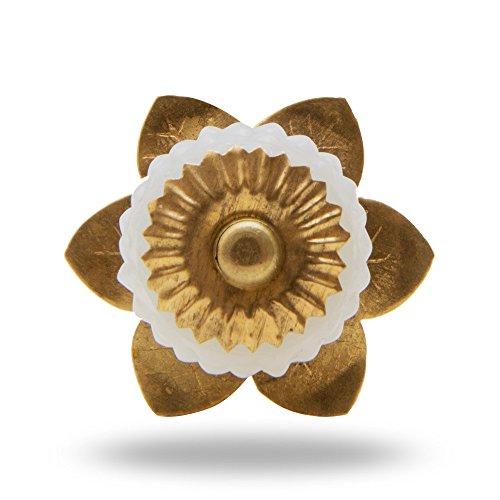 6のセットガラスベリーノブ真鍮花ミルクby trinca-ferro