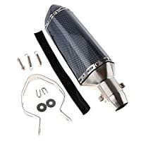 B Blesiya オートバイ 排気マフラー エキゾーストパイプ 騒音低減装置 6選択 - 400×110×110mm
