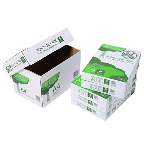 コピー用紙 A4 ホワイトコピー用紙 高白色 紙厚0.09mm 2500枚(500×5) AIK901