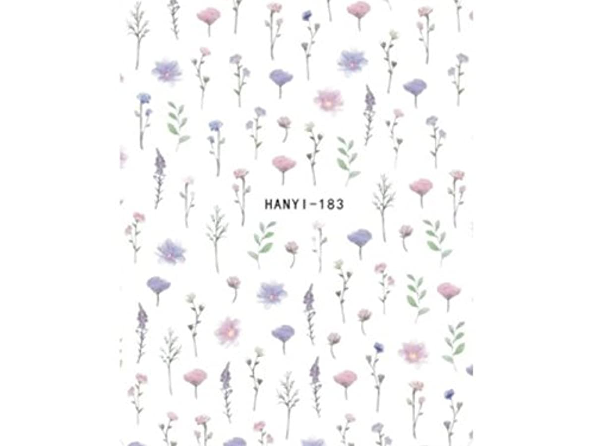 農業のスチールルビーOsize ファッションカラフルな花ネイルアートステッカー水転送ネイルステッカーネイルアクセサリー(示されているように)