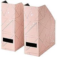 IKEA/イケア TJENA:マガジンファイル30x25x10 cm2個セット ピンク/ブラック (303.982.11)
