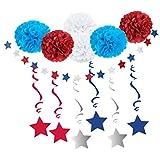 Perfeclan パーティー装飾 バナー ペーパーフラワーポンポン
