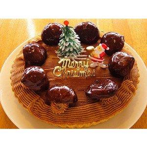 【クリスマスケーキ】モンブランタルト(18センチ)アレルギー対応:卵・乳製品不使用