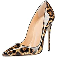 GENSHUO Women Fashion Pointed Toe High Heel Pumps Sexy Slip On Stiletto Dress Shoes