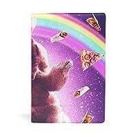 猫 リャマ ナマケモノ ピザ ブックカバー 文庫 a5 皮革 おしゃれ 文庫本カバー 資料 収納入れ オフィス用品 読書 雑貨 プレゼント耐久性に優れ