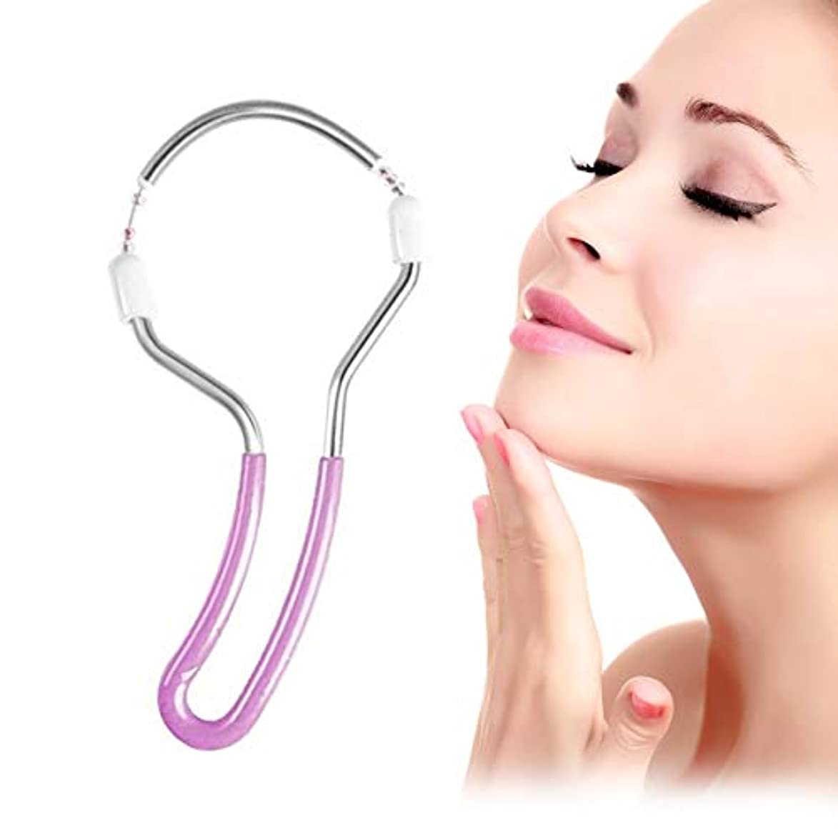 静的いたずらなタービンErgonomic Design Women Face Facial Hair Remover Stick Lightweight Hair Removal Threading Beauty Care Tools Shaving...