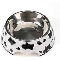 【Lansing store】ペットボウル 小型 中型 犬 猫用食器 ウォーター フード ボウル ステンレス製 ご飯 水 お餌 入れ 食器 滑り止め付き (一つ S)