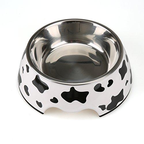 【Lansing store】ペットボウル 小型 中型 犬 猫用食器 ウォーター フード ボウル ステンレス製 ご飯 水 お餌 入れ 食器 滑り止め付き (一つ M)