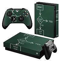 igsticker Xbox One X 専用 スキンシール 正面・天面・底面・コントローラー 全面セット エックスボックス シール 保護 フィルム ステッカー 000872