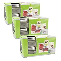 (12 Pack [1/2 Pint]) - Ball Collection Elite Half Pint Jars, Wide Mouth, Set of 12