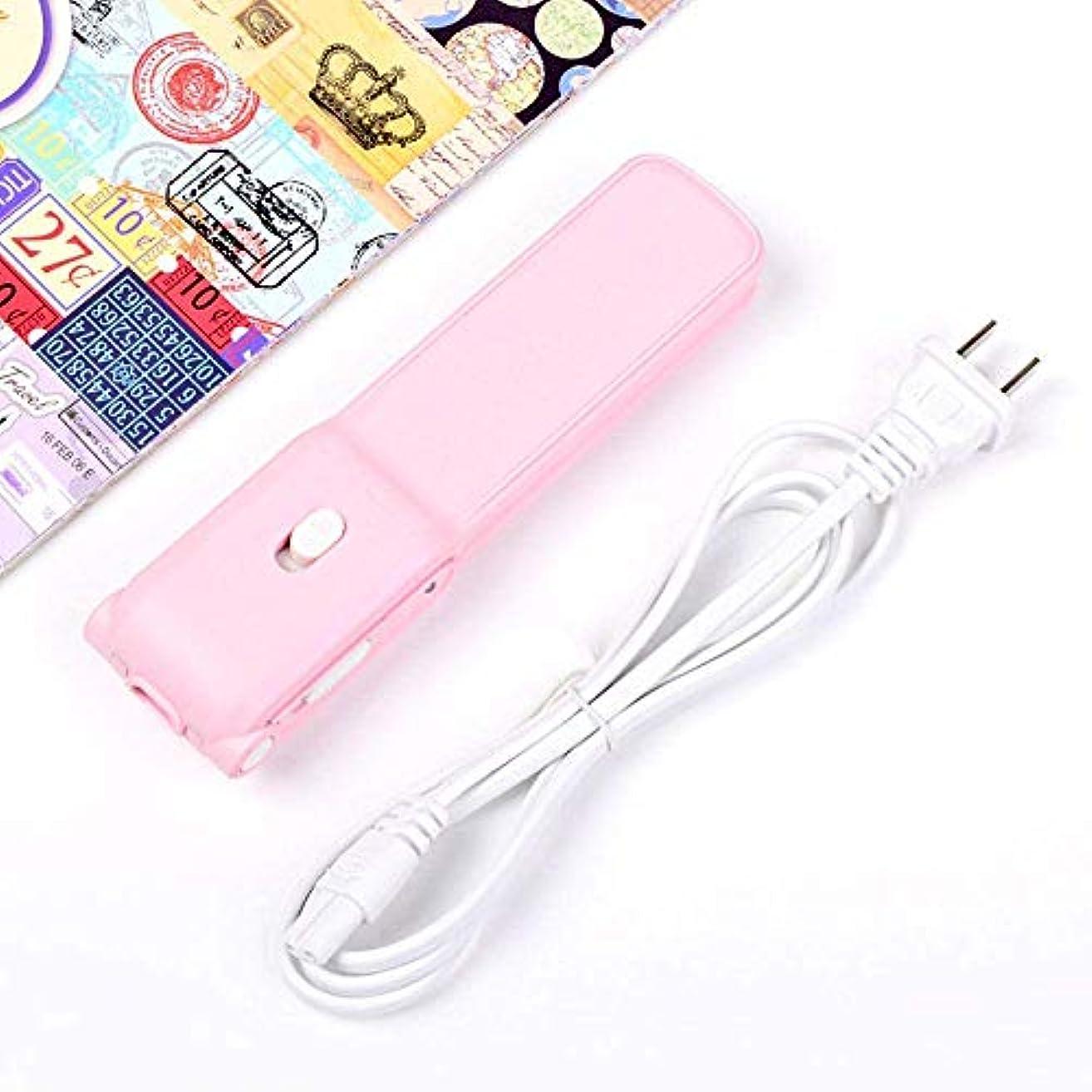 料理知性アジアストレートヘアアイロン/カーラー クリエイティブかわいいミニウェットとドライの広いプレート電気スプリント (Color : Pink)