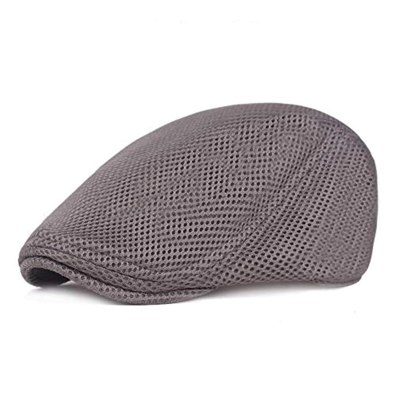 コンピューターホップ太字メッシュ ハンチング キャップ 夏用 綿 ベレー帽 調整可能ワークキャップ アウトドアキャップ 男女兼用