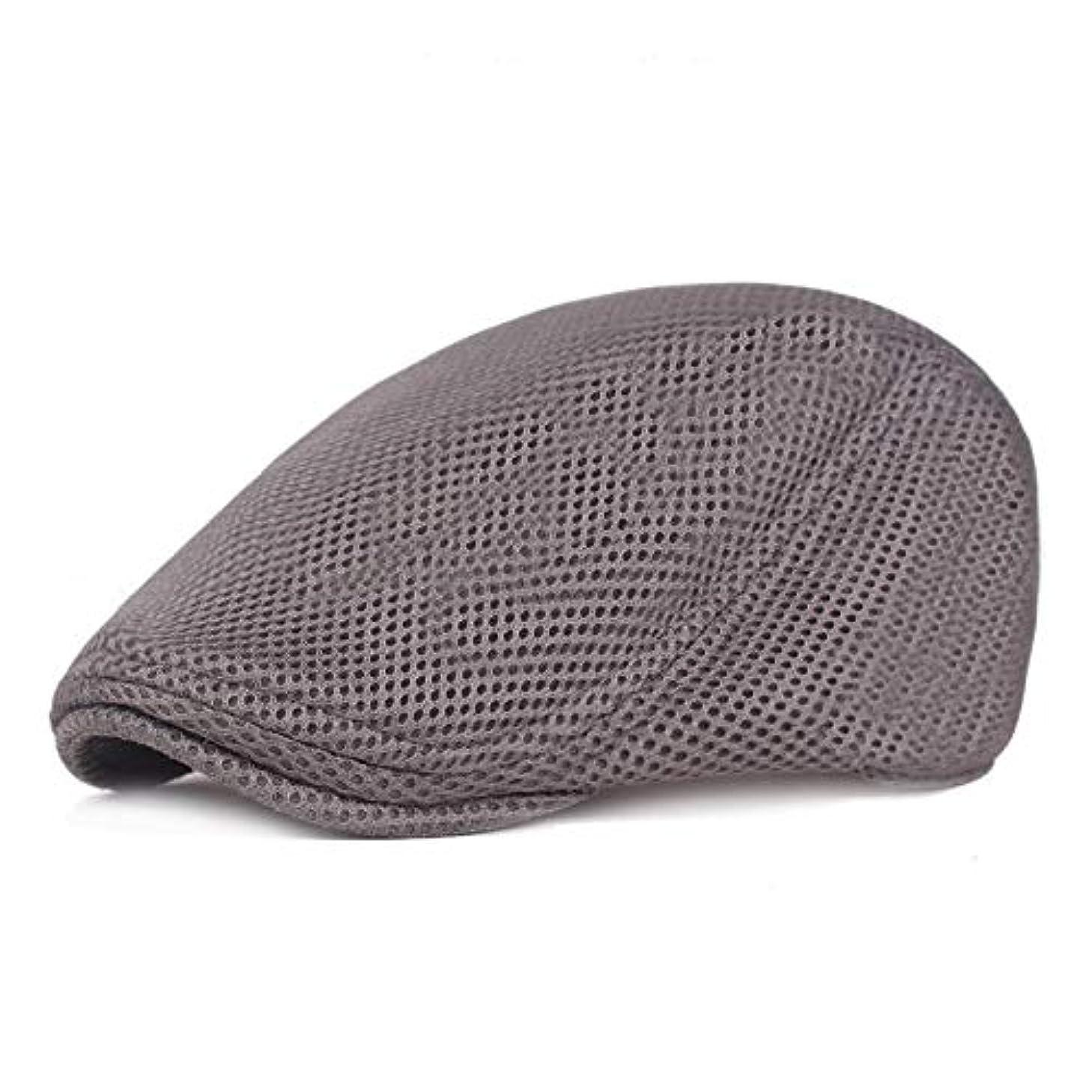 勇者引き金カップメッシュ ハンチング キャップ 夏用 綿 ベレー帽 調整可能ワークキャップ アウトドアキャップ 男女兼用