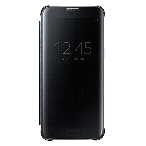 Galaxy S7 edge用 Clear Viewカバー ブラック 【Ga...