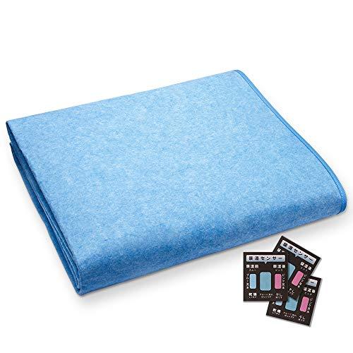 YUSIDO 除湿シート 寝具用 吸湿 除湿マット 洗える 湿気対策 防ダニ・防カビ・防臭加工 吸湿センサー付き (130*190cm)