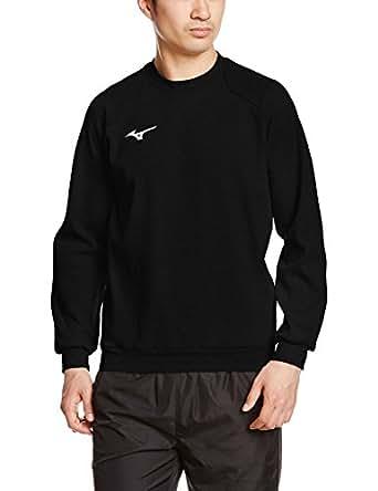 [ミズノ]  トレーニングウェア スウェットシャツ ワンポイント メンズ 32JC7175 09 ブラック 2XL